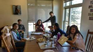 "Group of students & Dario during ""Spesso Espresso"""